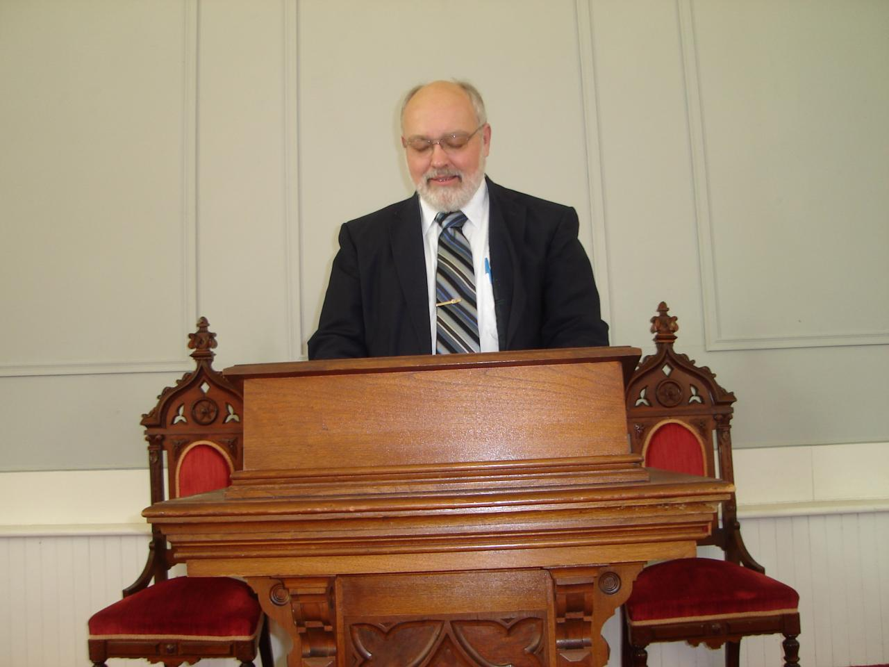 Pastor Wayne at the Pulpit